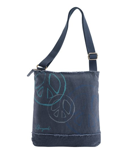 True Blue Floaty Peace Sign Peace & Love Shoulder Bag