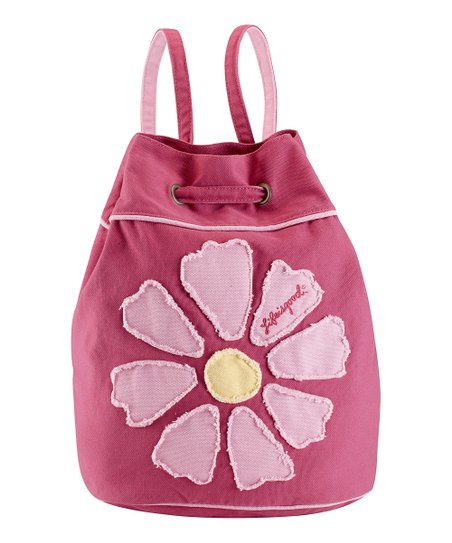 Dusty Pink Flower Cinch Sack