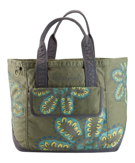 Simply Moss Tossed Flower Everything Tote