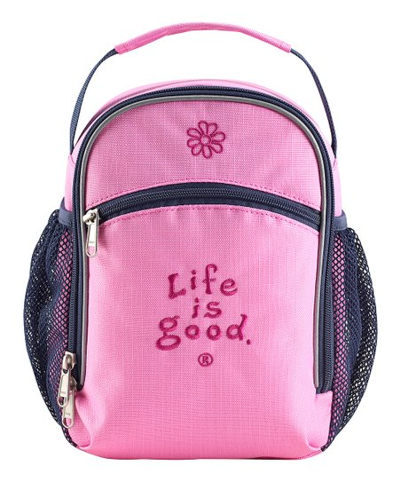 Peony Pink Mesh Pocket Lunch Bag