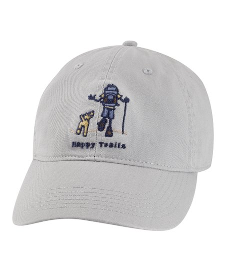 Simply Light Gray 'Happy Trails' Chill Baseball Cap - Men