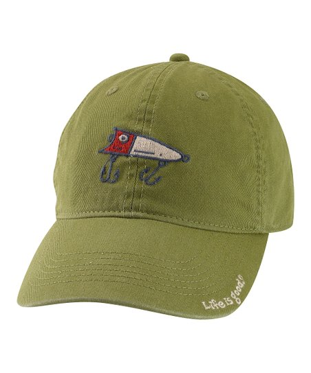 Simply Dark Green Fishing Lure Chill Baseball Cap - Men