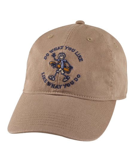 Simply Light Brown 'Do What You Like' Chill Baseball Cap - Men