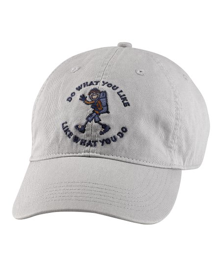 Simply Light Gray 'Do What You Like' Chill Baseball Cap - Men