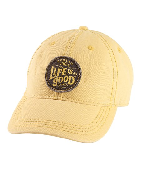 Classic Gold 'Spread Vibes' Choice Baseball Cap - Men