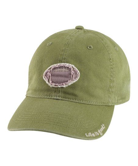 Simply Dark Green Tattered Football Chill Baseball Cap - Men