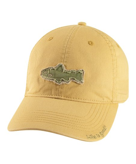 Classic Gold Tattered Fish Chill Baseball Cap - Men