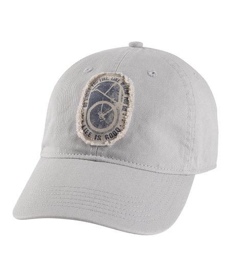 Simply Light Gray 'Go Where You Like' Chill Baseball Cap - Men