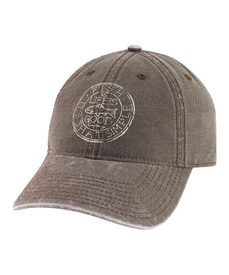 Dark Brown Medallion Fish Chill Baseball Cap - Men