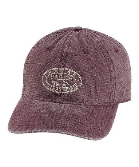 Burgundy Medallion Kayak Chill Baseball Cap - Men