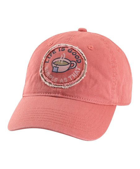 Brick Red &#039;Simple As That&#039; Chill Baseball Cap - Women