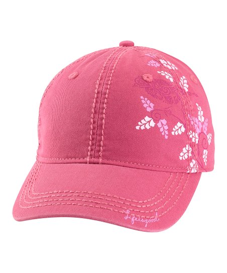 Dusty Pink Graceful Bird Choice Baseball Cap - Women