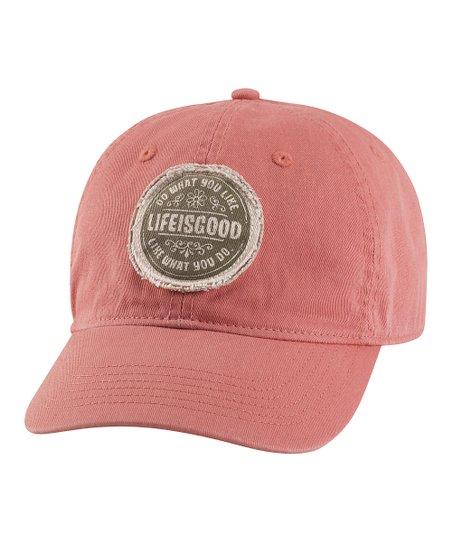 Brick Red &#039;Do What You Like&#039; Chill Baseball Cap - Women