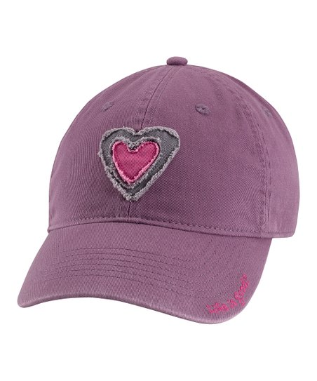 Plum Tattered Heart Chill Baseball Cap - Women