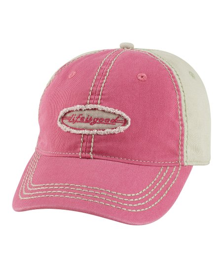 Dusty Pink Color Block Choice Baseball Cap - Women