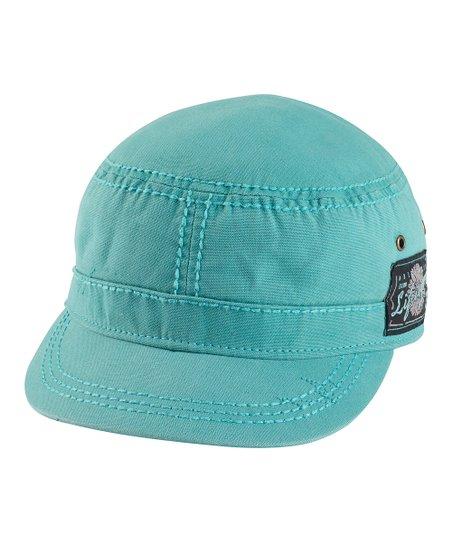 Teal Canvas Cadet Cap - Women