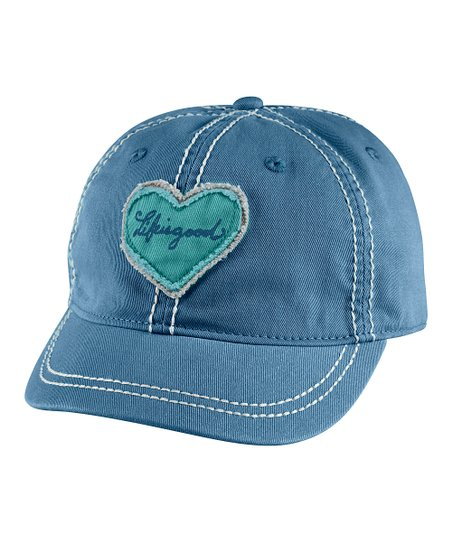 Simply Blue Tattered Heart Shortie Organic Baseball Cap - Women