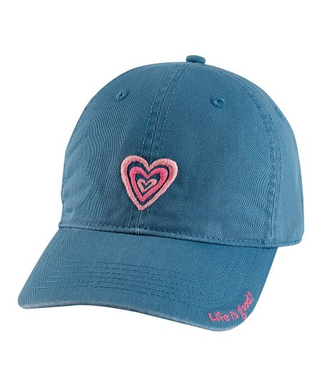 Blue Triple Heart Chill Baseball Cap