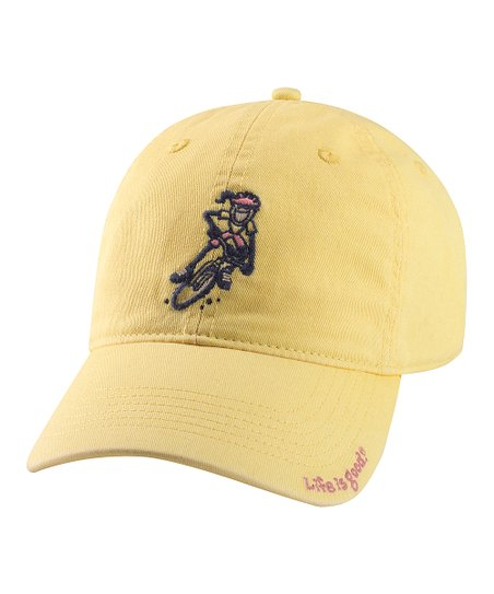 Yellow Mountain Bike Chill Baseball Cap