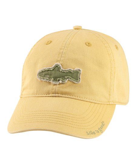 Classic Gold Tattered Fish Chill Baseball Cap - Boys