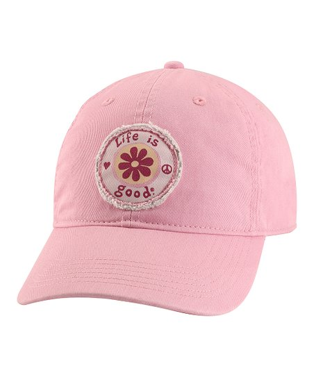 Pink Tattered Daisy Chill Baseball Cap