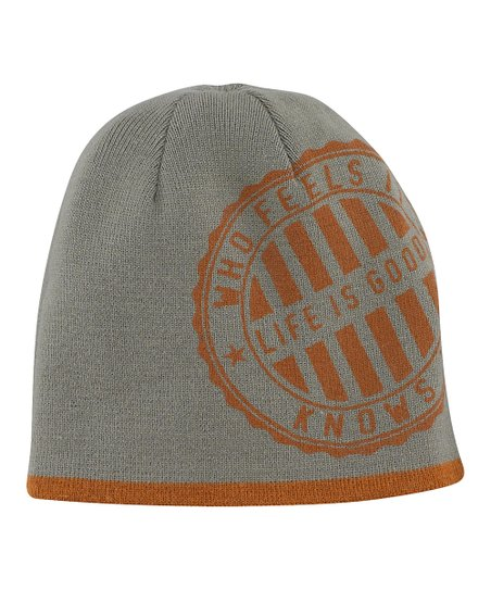 Copper Stripe Flipside Beanie - Men