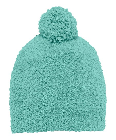 Teal Snuggle Pom-Pom Beanie - Women