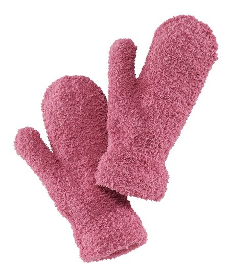 Dusty Pink Snuggle Mittens - Women