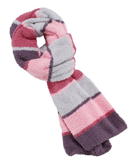 Pink Stripe Snuggle Scarf - Women