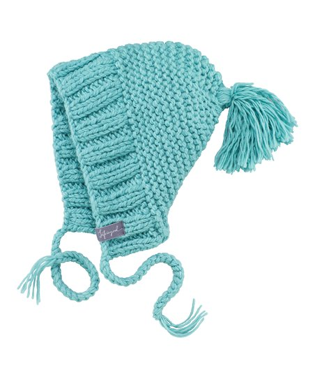 Teal Tassel Peruvian Beanie - Women