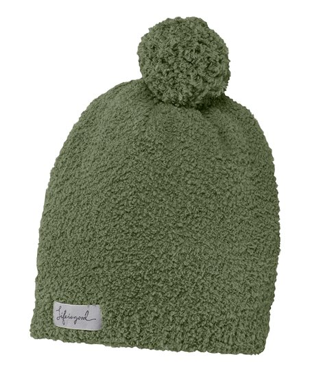 Simply Moss Snuggle Pom-Pom Beanie - Women