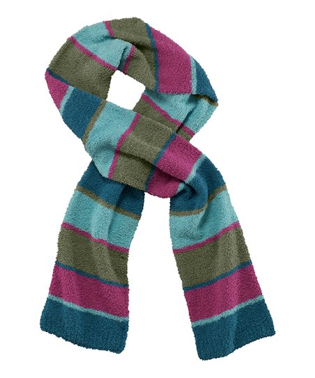 Magenta Stripe Snuggle Scarf - Women