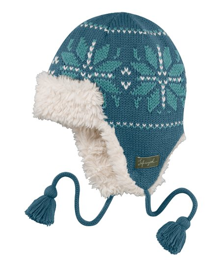 Blue Sleigh Trapper Hat - Women