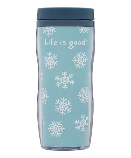 Snowflakes Acrylic Travel Mug