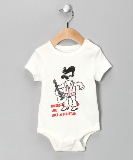 White 'Big Star' Elvis Bodysuit - Infant