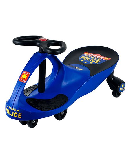 Blue Chief Justice Police Wiggle Ride-on