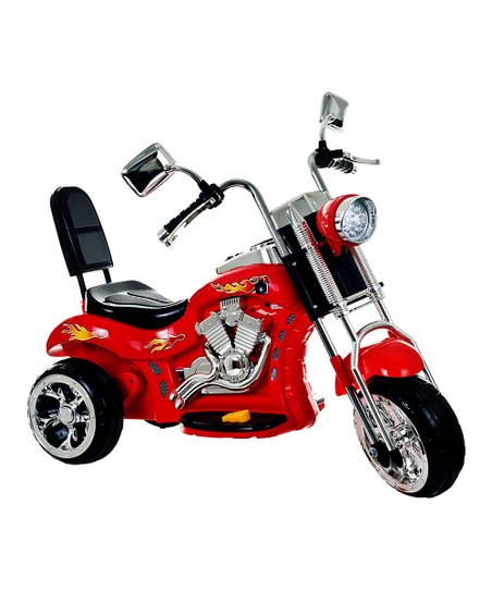 Red Rocking Three-Wheel Chopper Motorcycle Ride-On
