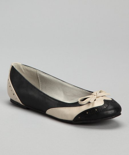 Black & Beige Jovie-8 Flat