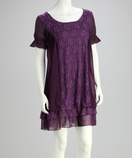Purple Floral Panel Tunic
