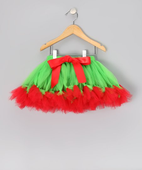 Green & Red Bow Pettiskirt