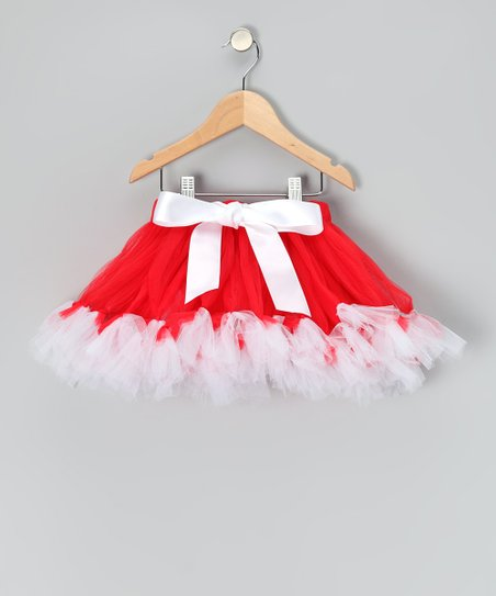Red & White Bow Pettiskirt