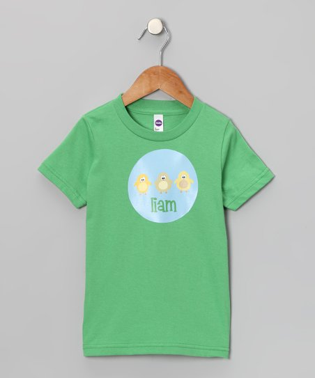 Lima Bean Kids Green Chickadee Personalized Tee - Toddler