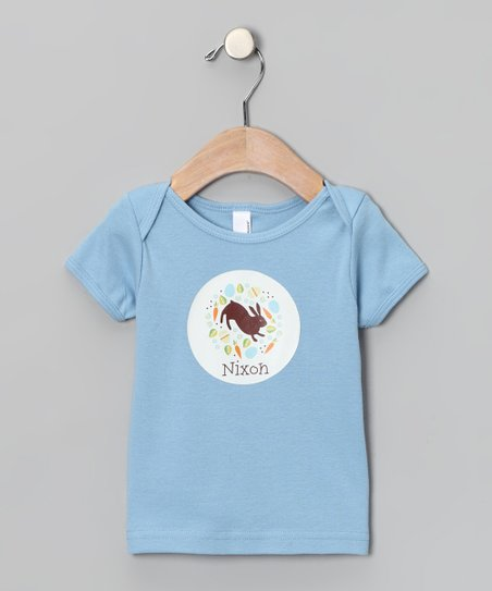 Baby Blue Easter Collage Personalized Lapneck Tee - Infant