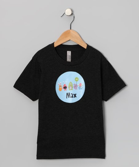 Lima Bean Kids Black Monster Easter Personalized Tee - Kids