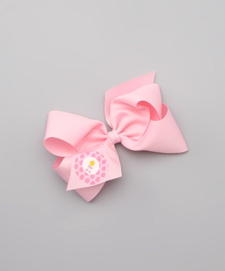 Light Pink Chick in Egg Personalized Large Bow Clip