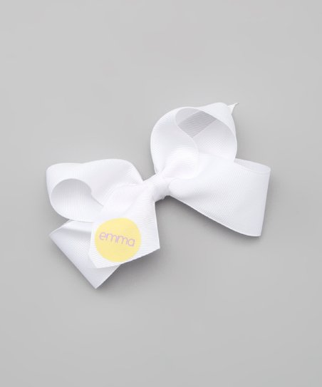 Yellow &amp; Purple Personalized Small Bow Clip