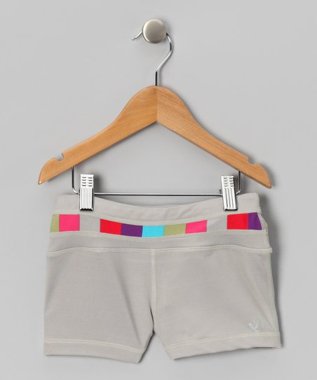 Gray Raise the Bar Mini Shorts - Girls