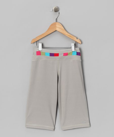 Gray Raise the Bar Capri Pants - Girls