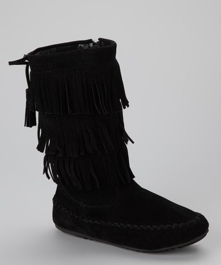 Black Fringe Katherine-16KA Boot