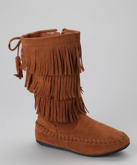 Tan Fringe Katherine-16KA Boot
